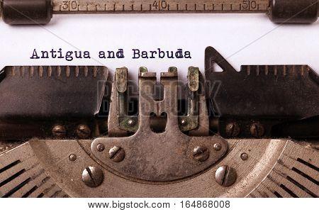 Old Typewriter - Antigua And Barbuda