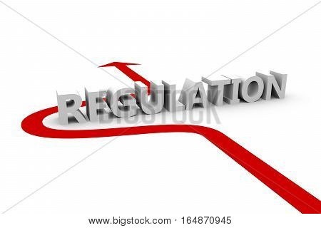 regulation  without arrow white background 3D illustration