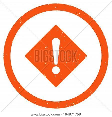Error Rhombus rubber seal stamp watermark. Icon vector symbol with grunge design and dirty texture. Scratched orange ink emblem on a white background.