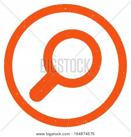 View Tool rubber seal stamp watermark. Icon vector symbol with grunge design and corrosion texture. Scratched orange ink emblem on a white background.