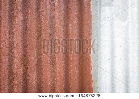 Zinc wall rusty Zinc grunge background texture
