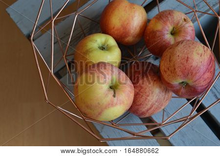 Bio apples in a modern vase - healthy snack