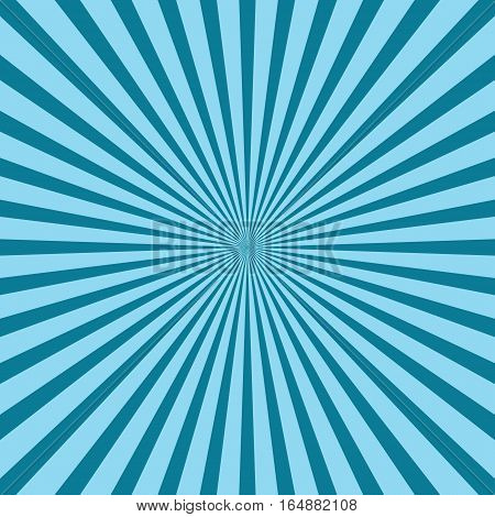 Rays, beams element. Radiating, radial, merging lines Abstract circular geometric shape. Sunburst, starburst shape on white. Vector blue pattern background