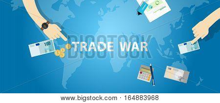trade war tariff business global exchange international vector