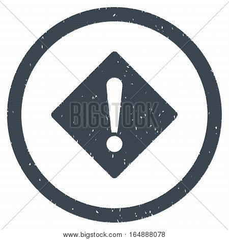 Error Rhombus rubber seal stamp watermark. Icon vector symbol with grunge design and corrosion texture. Scratched smooth blue ink emblem on a white background.