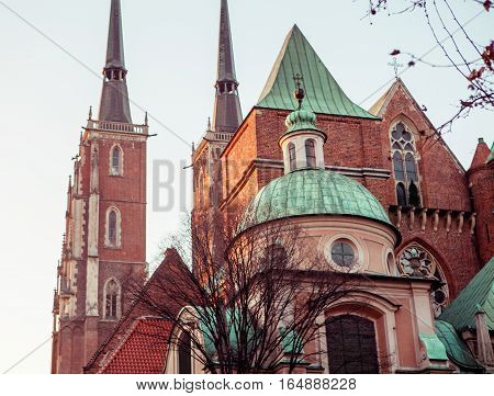 Wroclaw, Poland, Cathedral of St. John in Wroclaw