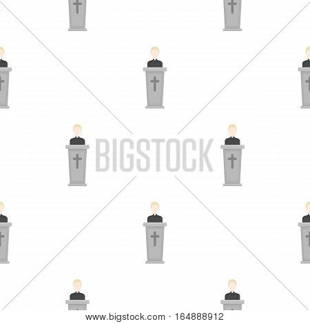 Priest icon in cartoon style isolated on white background. Religion pattern vector illustration.