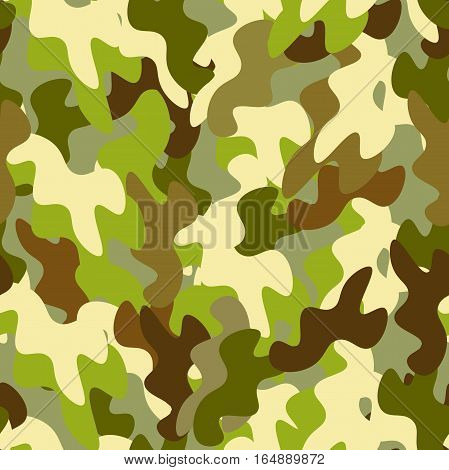 seamless pattern protective coloration Military Defender the Fatherland Day vector illustration