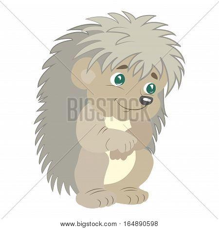 Cartoon sweet hedgehog. Cute Hedgehog. Cute baby hedgehog