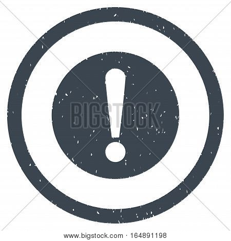 Problem rubber seal stamp watermark. Icon vector symbol with grunge design and corrosion texture. Scratched smooth blue ink sign on a white background.