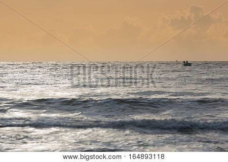 Fishing Coracles On Sea, Tribal Boats At Fishing Village In Vietnam
