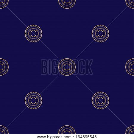 Seamless Pattern with Lifebuoy on a Navy Background ,Seamless Pattern of Maritime Emblem for Web Design and Wallpaper and Fabric