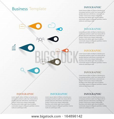Vector infographic.Icons and signs infographic Vector infographic