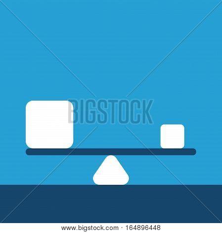Different Cubes On Balance
