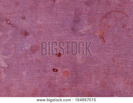 Dirty Pink Textile Surface With Different Spots.