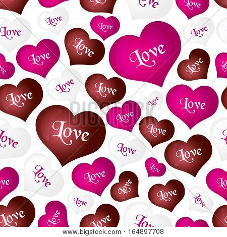 Color Helium Balloons Heart Shape For Love And Valentine Seamless Pattern Eps10