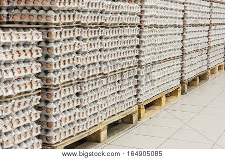 Packings With Eggs In Shop Territory Before Easter