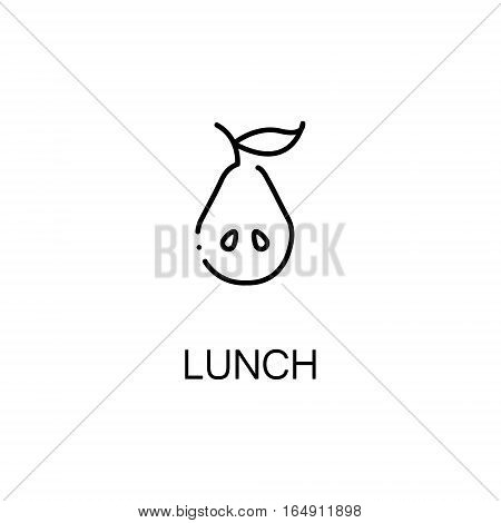 Pear flat icon. Single high quality outline symbol of Lunch for web design or mobile app. Thin line signs of pear for design logo, visit card, etc. Outline pictogram of pear