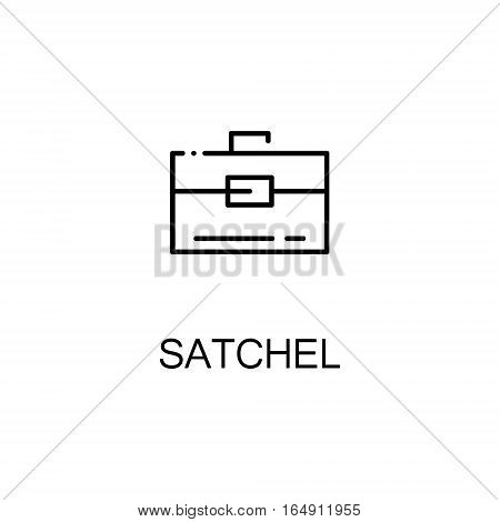 Satchel flat icon. Single high quality outline symbol of education for web design or mobile app. Thin line signs of Satchel for design logo, visit card, etc. Outline pictogram of Satchel
