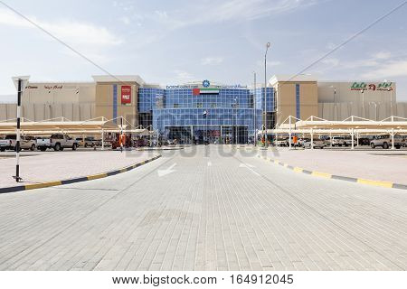 AL AIN UAE - NOV 29 2016: Barari outlet mall in Al Ain. Emirate of Abu Dhabi United Arab Emirates