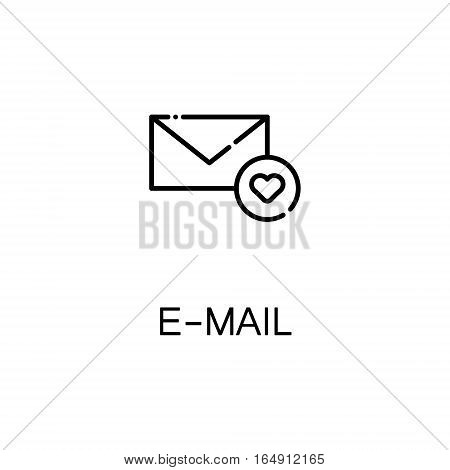 E-mail flat icon. Single high quality outline symbol of mail for web design or mobile app. Thin line signs of interface for design logo, visit card, etc. Outline pictogram of E-mail