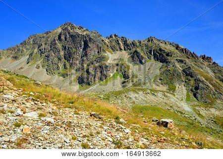 Summer mountain landscape near Davos, Canton Grison, Switzerland