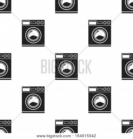 Washer black icon. Illustration for web and mobile.