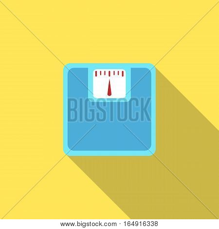 Bathroom scale icon with long shadow. Flat design. Vector Illustration
