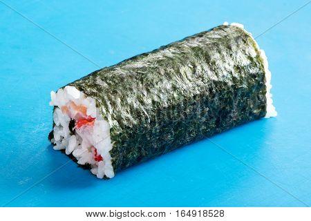 Japanese Cuisine Roll On Cutting Board