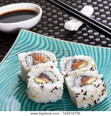 Set Of Four Sushi Rolls