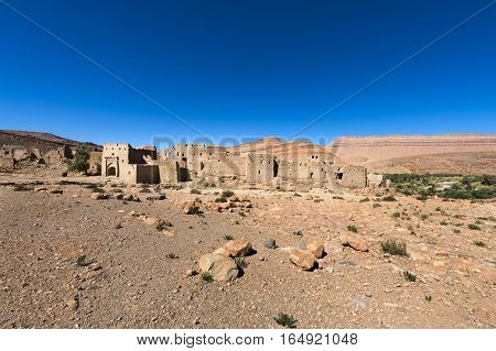 Ruins of a Kasbah in the Ziz Valley Morocco North Africa