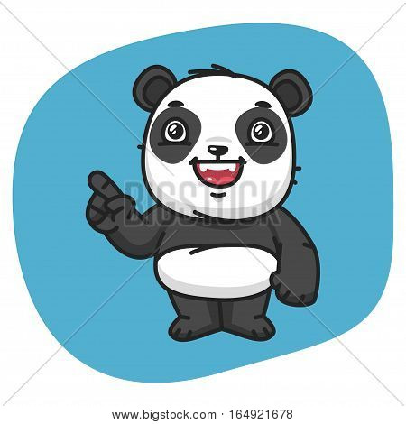 Vector Illustration, Panda Points Finger, Format EPS 8