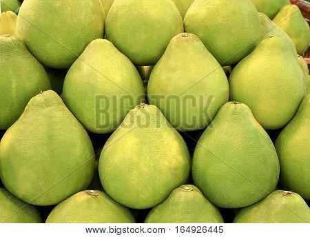 Thai green grapefruit (Pomelo) background, Food image
