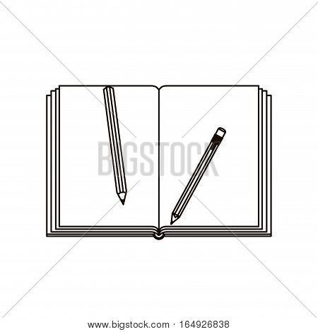 Agend and pencils icon. Notebook book directory and information theme. Isolated design. Vector illustration