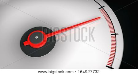 3D Rendering Car Speedometer Empty