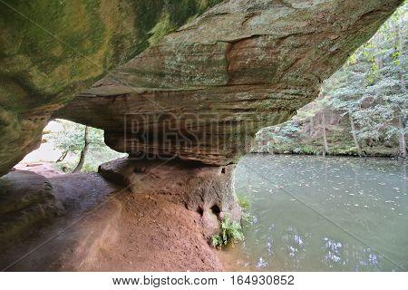 HDR shot of stone passage in the Schwarzachschlucht (Schwarzach valley) in Germany.