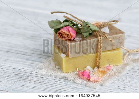 Natural Handmade Soap With Fragrant Herbs