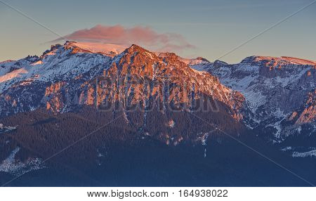 Sunset Over Bucegi Mountains, Romania