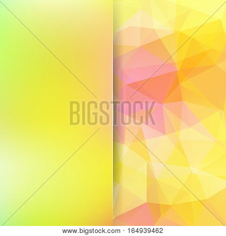 Abstract background consisting of yellow, pink triangles. Geometric design for business presentations or web template banner flyer. Vector illustration