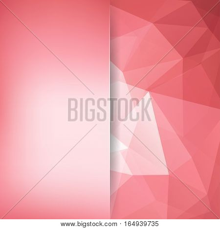 Abstract background consisting of pastel pink, white triangles. Geometric design for business presentations or web template banner flyer. Vector illustration