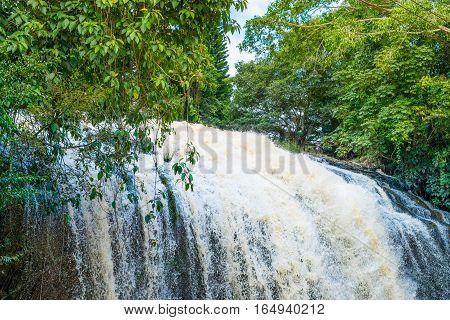 Waterfall in jungle Prenn in Dalat, Vietnam