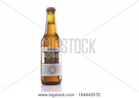 Bottle Of La Salve Original Beer.
