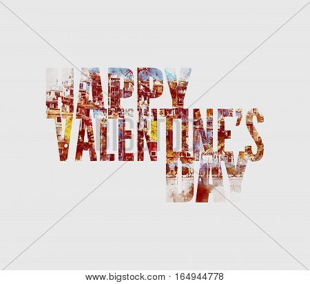 Happy Valentine's Day Greeting Card. Digital art