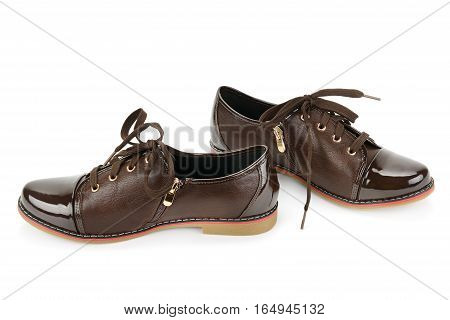 pair classic shoes isolated on white background