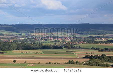 Far View On Aberzhausen (front) And Alfershausen (back) From Schlossberg (heideck)