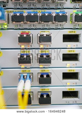 technical and optical equipment room mobile operator