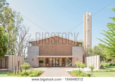 RITCHIE SOUTH AFRICA - DECEMBER 31 2016: The Dutch Reformed Church in Ritchie a small town in the Sol Plaatje municipality of the Northern Cape Province