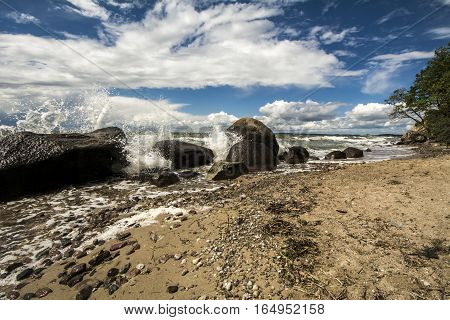 beach sand water waves sea ocean summer