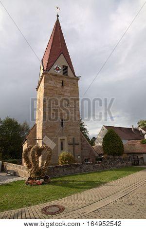 Katholische Filialkirche Mariae Verkuendigung (Catholic subsidiary church Annunciation) in Hofstetten (Hilpoltstein) Germany.