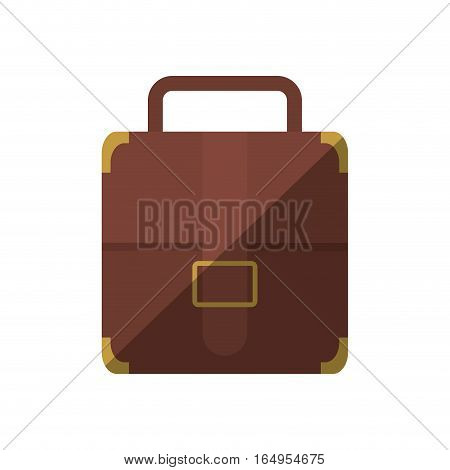 portfolio suitcase strap travel business shadow vector illustration eps 10